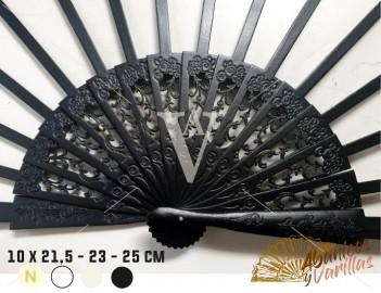 Varilla madera Negra SIPO de 10 x 21,5 - 23 - 25 cm