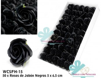 Rosas de pétalos de jabón perfumados en color negro