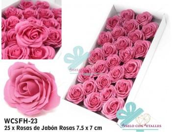 Rosas de jabón grandes perfumadas en color rosa