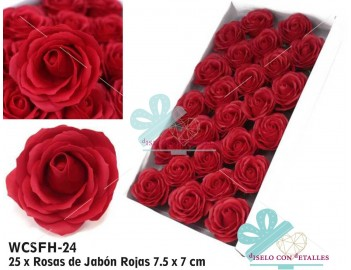 Rosas Rojas de jabón perfumado tamaño grande