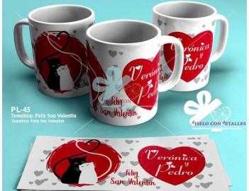 Taza personalizada Feliz San Valentin