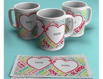Taza personalizada dia de los enamorados con foto