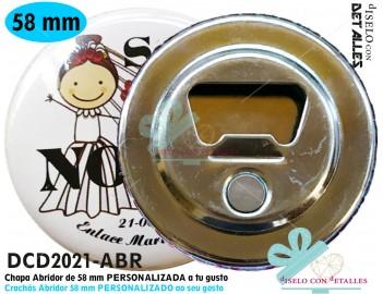 Chapas Abridor con Imán personalizadas 58 mm