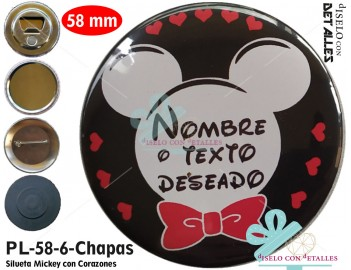 Chapa personalizada Mickey