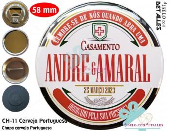Chapa cerveza Portuguesa personalizada