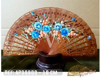 Abanico Baraja 16 cm - Floral