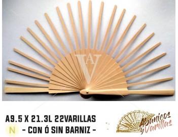 Abedul A9.5 X 21.3 L22 VARILLAS SIN BARNIZ